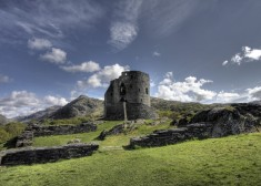 Castle Dolbadarn Keep built for Llywelyn the Great Llanberis Snowdonia Wales
