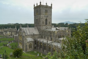 St Davids Cathedral in Pembrokeshire - Wales, United Kingdom