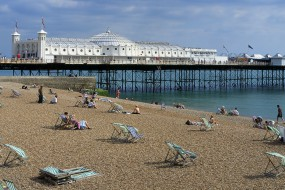 Brighton Beach and Pier. East Sussex. England